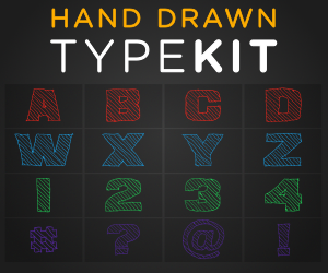 Hand Drawn Type-kit